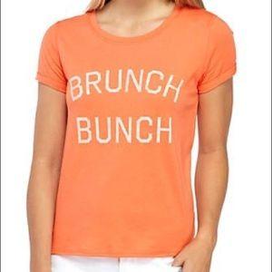 True craft brunch bunch orange graphic tee shirt